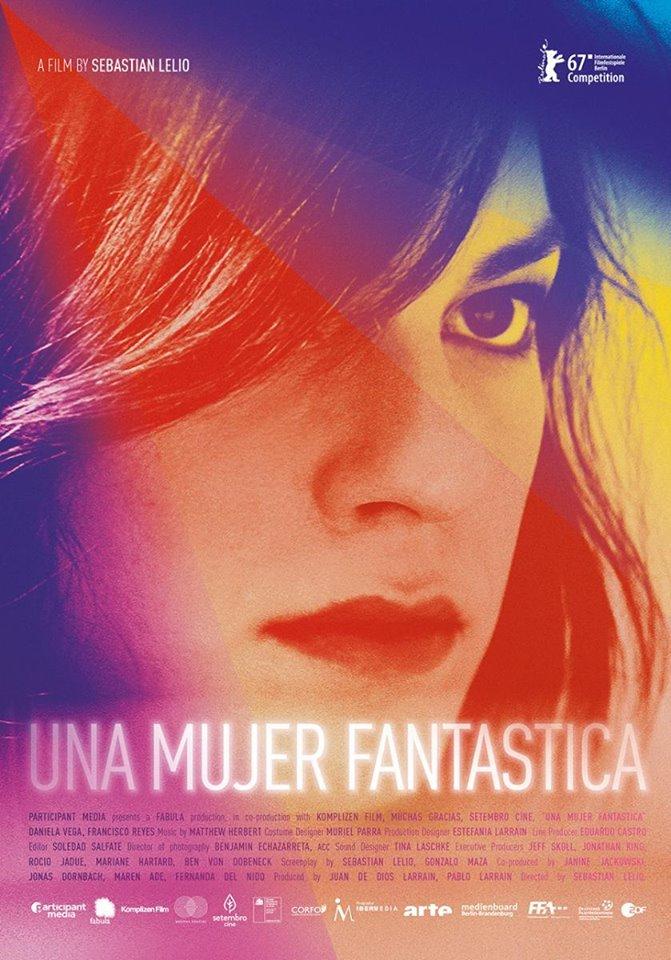 """El film chileno """"Una mujer fantástica"""" quedó nominado para los premios Oscar 2.018"""